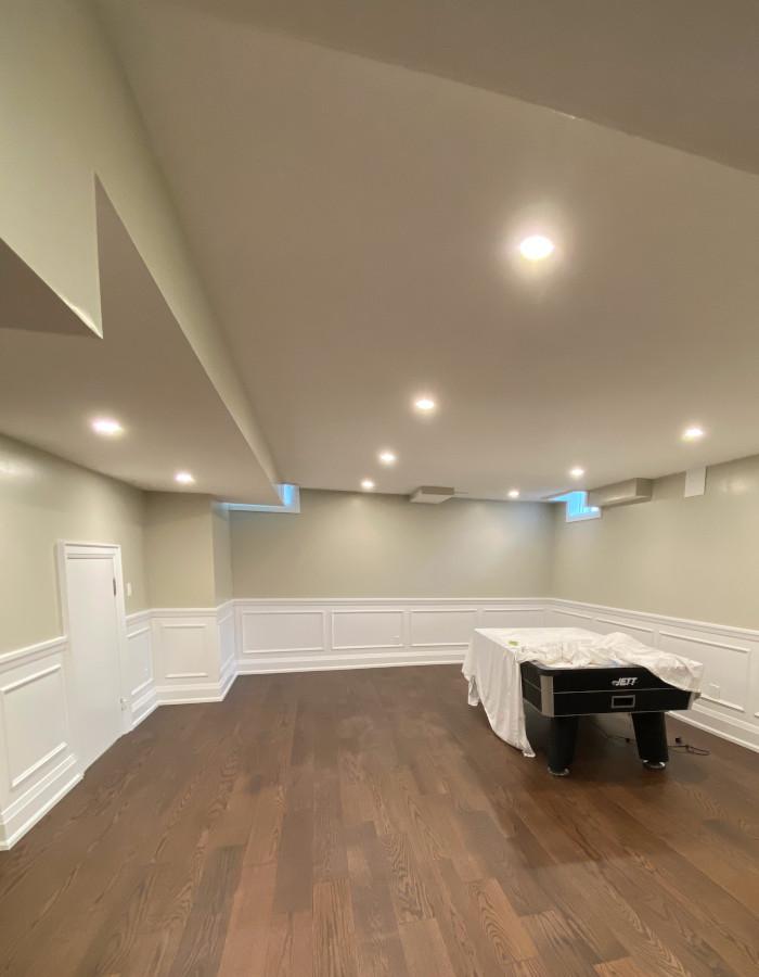 hardwood floor basement 3