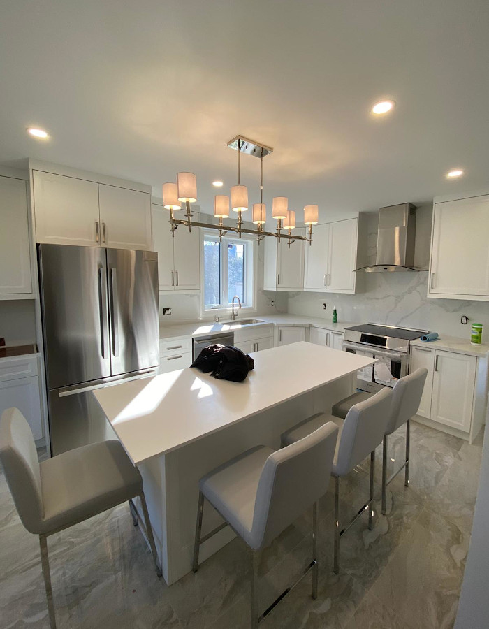 kitchen reno with dinning space