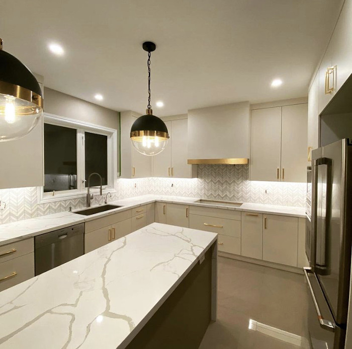 gold and black accent kitchen 2